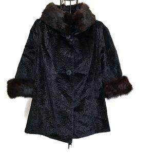 VTG 1960s Styled by Winter Faux Fur Mink Jacket